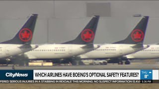 Which airlines bought Boeing's optional safety features?