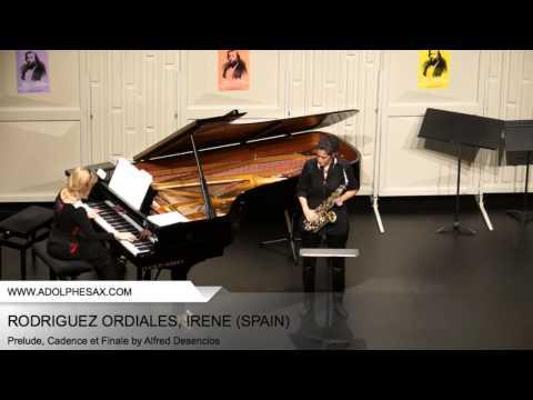 Dinant 2014 - RODRIGUEZ ORDIALES Irène (Prelude, Cadence et Finale by Alfred Desenclos)