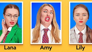 TYPES OF STUDENTS ON PICTURE DAY    Funny Situations At School by 123 GO!