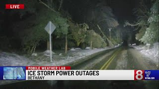 Crews hope to restore power to Bethany soon after most of town is left in dark