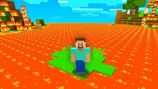 Minecraft but LAVA rises every SECOND