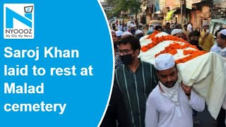Saroj Khan's funeral held in Malad, son Raju Khan performe..