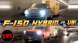 Watch The 2021 Ford F-150 Hybrid Take On The V8 Chevy Silverado On The World's Toughest Towing Test!