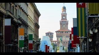 Milan (Milano) 4K. Duomo, Naviglio Grande flea market.