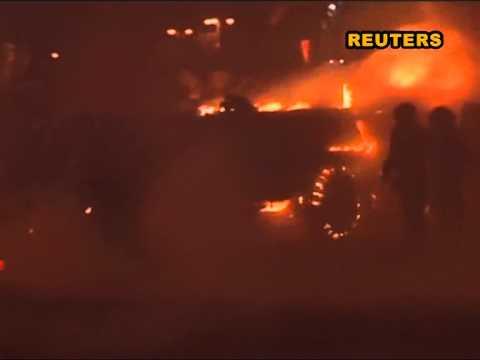 Штурм Майдана глазами силовиков: митингующие сожгли БТР