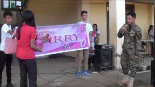 Philippine Army Scout Ranger Gerry Gaspar P Padayogdog Wedding Proposal