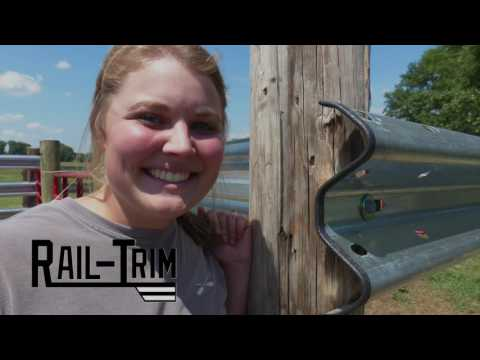 Rail-Trim is the creative integration of edge-protection and guardrail fencing.  See Erika Lamb from Rolling O Cattle Company install Rail-Trim on LiveStock Steel Guardrail on her farm.