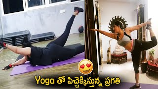 Actress Pragathi latest gym workout video..