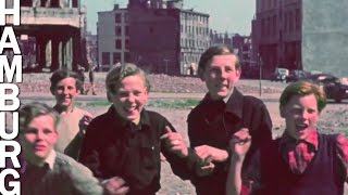 Hamburg 1948 - Rare Footage in color and HD