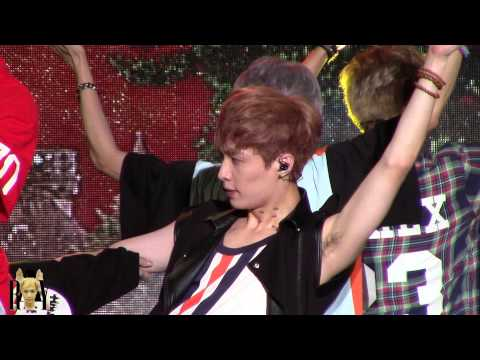 [RAY] 130812 EXO WOLF LAY Show Champion in Sokcho