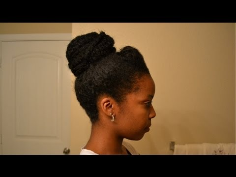 How To Bun With Afro Kinky Hair Youtube