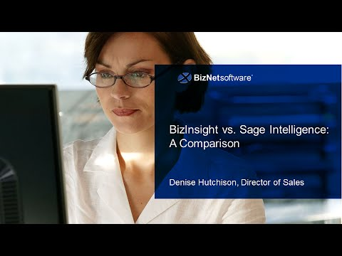 BizNet Webinar: BizInsight vs  Sage Intelligence Comparison