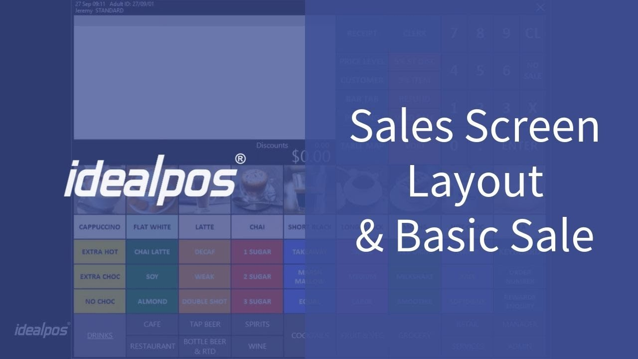 Sales Screen Layout & Basic Sales