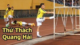 Thử Thách Bóng đá cùng Nguyễn Quang Hải U23 Việt Nam vừa khởi động vừa bị Fan tấn công