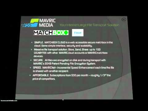 MAVRIC Media shows matchbox digital file transporter
