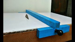 Make A Table Saw Fence Homemade || DIY Movable Fence