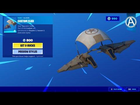 "Fortnite Item Shop NEW ""CUSTOM FLIER"" GLIDER! (May 24th, 2020)"
