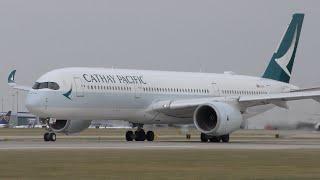 16 Close Up Takeoffs: 777, A380, A350, 787, A330, 757, A320neo, A321, 737 Manchester Airport