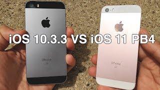 iPhone SE iOS 10.3.3 vs iPhone SE iOS 11 Public Beta 4! -