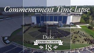 Duke 2018 Commencement Time-lapse video