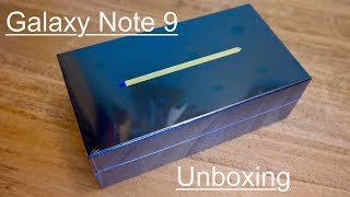 Unboxing the Samsung Galaxy Note 9 - Ocean Blue
