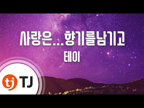 [TJ노래방] 사랑은...향기를남기고 - 테이/ TJ Karaoke