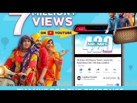 Mr & Mrs 420 Returns Trailer - Jassie Gill, Ranjit Bawa