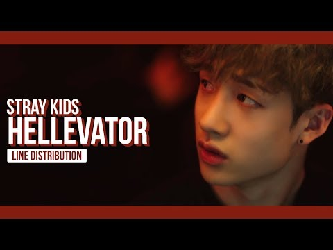 Stray Kids - Hellevator Line Distribution (Color Coded) | 스트레이 키즈 - 헬리베이터