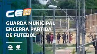 Guarda Municipal encerra partida de futebol que ocorria em campinho