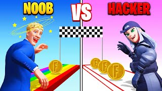 NOOB vs HACKER For 💰 in Fortnite
