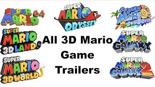 All 3D Mario Game Trailers (1996-2017)