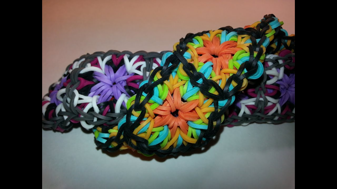 ONE LOOM Large Granny Square Bracelet Tutorial by ...