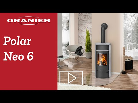 ORANIER | Polar Neo 8 | Kaminofen| Gussgrau | 8.0 kW | A+