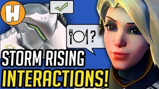 Overwatch - ALL Storm Rising Interactions + Voice Lines! | Hammeh
