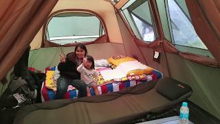 coleman instant up cabin gold   8 person tent