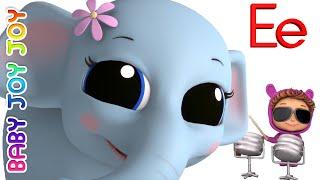 Learn Phonics Letter E | Letter Recognition | Ellie the Elephant