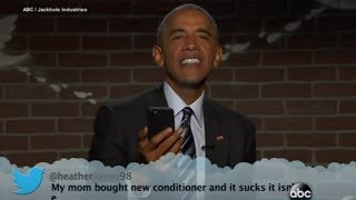 Obama Reads Mean Tweets on Jimmy Kimmel Live!