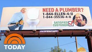 Matt's Lauer's Billboard Prank On Ellen | TODAY