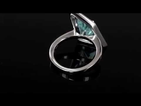 Browns Family Jewellers White Gold Aquamarine Ring