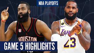 ROCKETS vs LAKERS GAME 5   Full Highlights - 2020 NBA Playoffs
