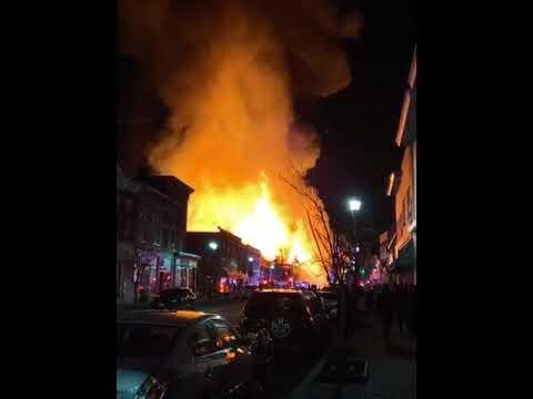 Bound Brook NJ four alarm apartment fire January 12, 2020