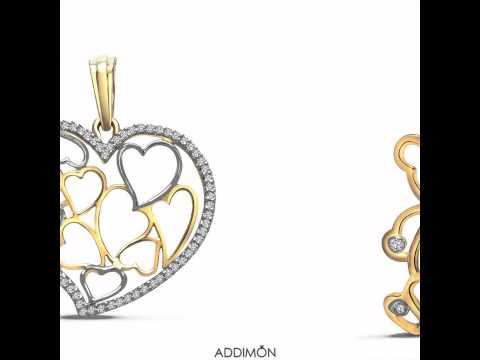 Beautiful gold diamond Pendant