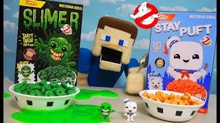 GHOSTBUSTERS CEREAL!! Slimer & Stay Puft Funko Breakfast Unboxing