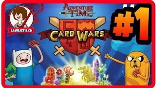 ► Card Wars: #1   Gameplay   ESPAÑOL   HORA DE AVENTURA   Guerra de Cartas