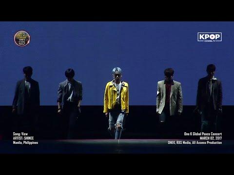 170302 SHINee - VIEW + greetings 샤이니 at OneK Global Peace Concert