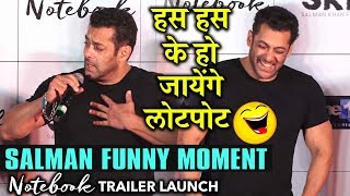 SALMAN KHAN Best Funny Moment At Notebook Trailer Launch | Comedy Time With Salman And Zaheer Iqbal