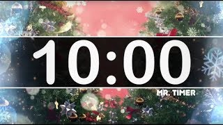 10 Minute Timer with Christmas Music - Jingle Bells - Instrumental Christmas Music for Kids!