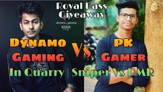 #DynamoGaming P.K GAMER Vs Dynamo Gaming + Alpha Clasher In Quarry | Sniper Vs DMR #ShaktimaanGaming