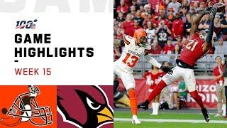 Browns vs. Cardinals Week 15 Highlights | NFL 2019