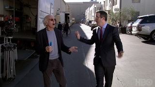 John Oliver Asks Larry David What He's Been Up To (HBO)